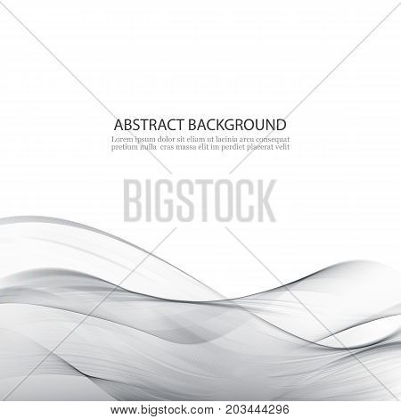 Elegant Silver Technology Background.Grey transparent abstract waves.
