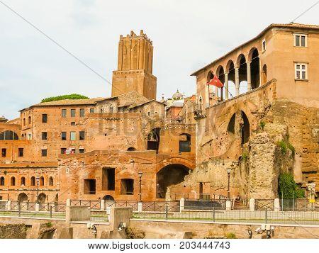 Roman Forum. Ruins Of Times Of The Roman Empire