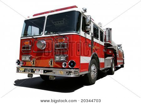 Fire Engine isolated on white background