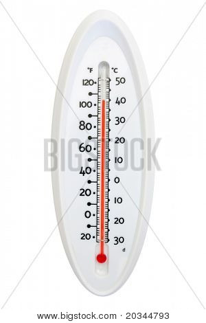 Thermometer isolated on pure white background