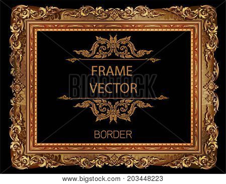 Frame Picture Vector Floral Design Border New 05
