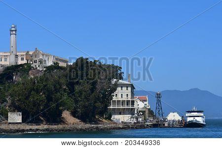San Francisco; USA - july 13 2016 : the Alcatraz jail