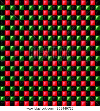 abstract colored background image consisting of lines with red green and black glossy blocks