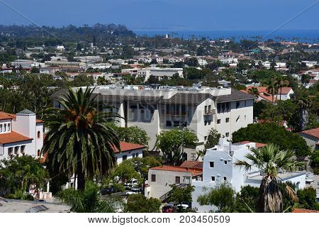 Santa Barbara USA - july 15 2016 : the picturesque city in summer