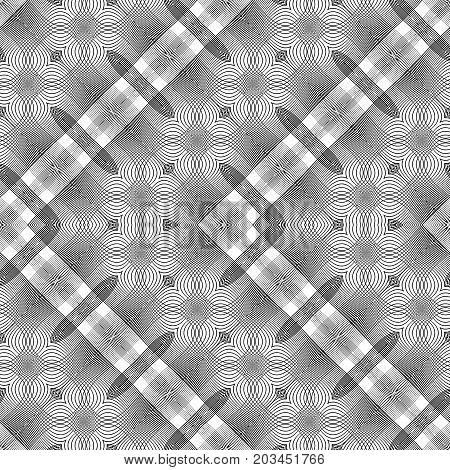 Design Seamless Monochrome Lacy Zigzag Pattern