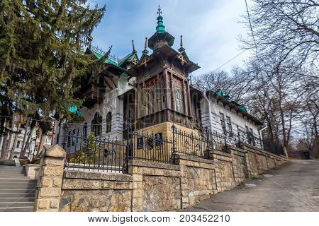 KISLOVODSK, RUSSIA - MAY, 2017: VILLA OF RUSSIAN OPERA SINGER CHALIAPIN NOW A MUSEUM