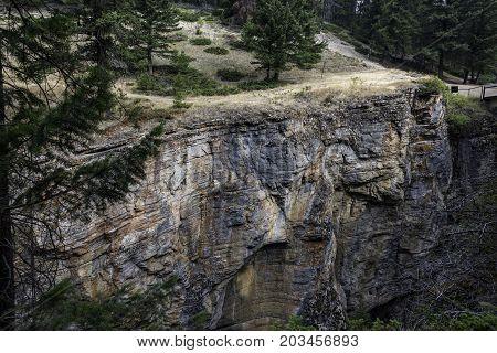 the Maligne Canyon at Jasper National Park