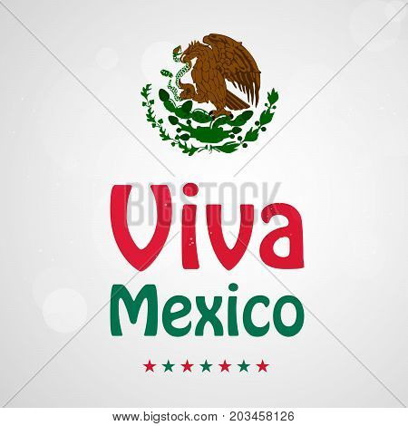 illustration of Viva Mexico text on the occasion of Mexico Independence Day