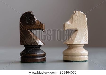 International Day Of Chess, Figures. Chess Photographed On A Chessboard. Chess Is An Strategy And In