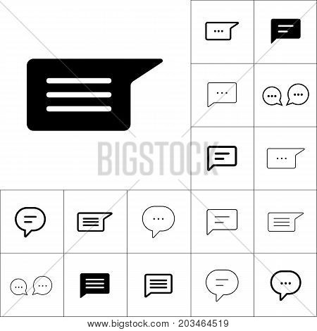 Chat, Speech, Comment, Chatting Icon On White Background, Dialbo