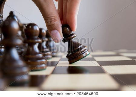 International Day Of Chess, Figures. Chess Is An Strategy And Intelligence Board Game. Detail Of A W