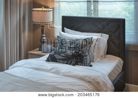 Single Bedroom With Set Of Pillows