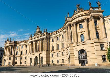 Old historic building seen at the Unter den Linden boulevard in Berlin, Germany