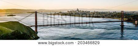Golden Gate Bridge San Francisco California West Coast Sunrise