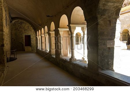 Cloister Of The Abbey Of Sant Pere De Rodes, Spain.
