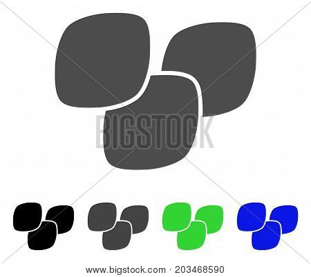 Medical Tablets icon. Vector illustration style is a flat iconic medical tablets symbol with black, grey, green, blue color variants. Designed for web and software interfaces.