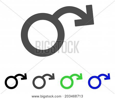 Sexual Impotence icon. Vector illustration style is a flat iconic sexual impotence symbol with black, gray, green, blue color versions. Designed for web and software interfaces.