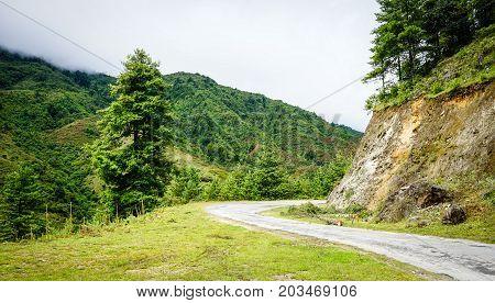 Mountain Scenery In Bhutan