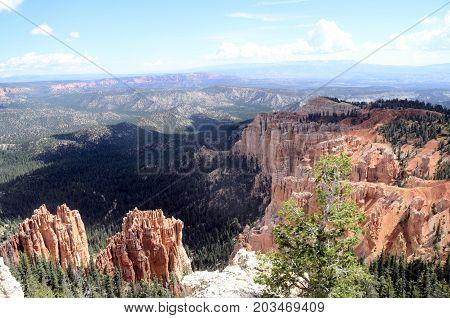 Bryce canyon landscape scenic view of amphiteater Utah USA
