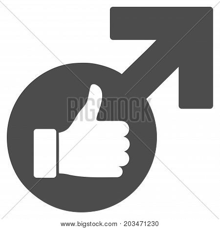 Excellent Erection Symbol vector pictograph. Style is flat graphic gray symbol. poster