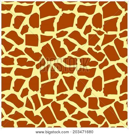 Seamless giraffe skin texture stock vector illustration