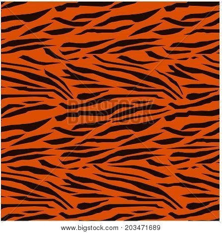 Seamless black and red tiger skin texture stock vector illustration