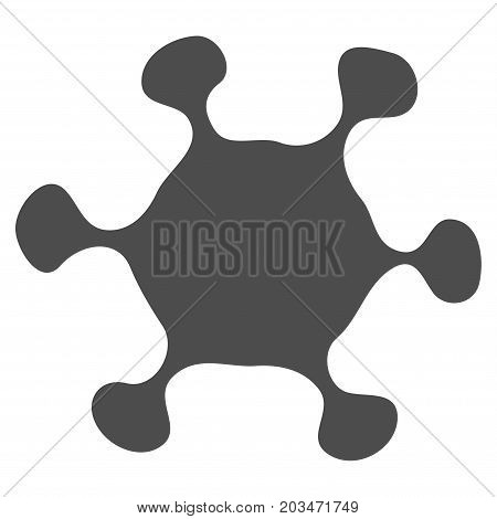 Parasite Cell vector pictograph. Style is flat graphic grey symbol.