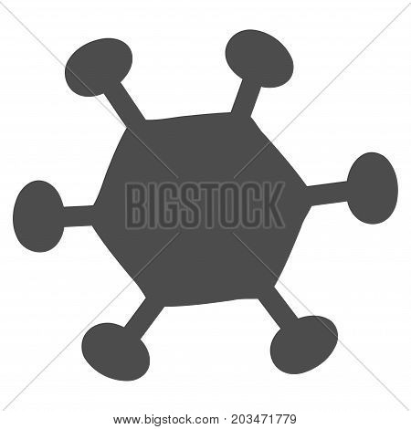 Parasite Microbe vector pictogram. Style is flat graphic grey symbol.