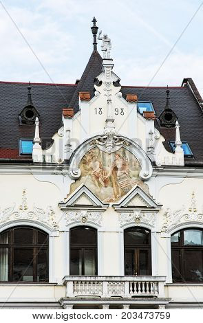 The Beggar's house in Kosice Slovak republic. Architectural scene.
