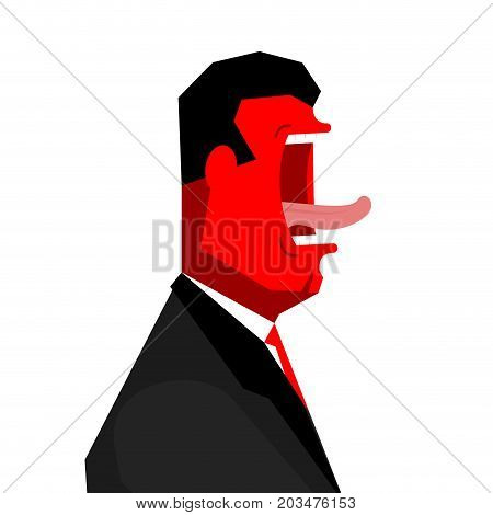 Angry Boss Yelling. Office Life. Businessman Screaming. Vector Illustration
