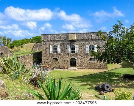 The famous Fort Napoleon in Terre-de-Haute, Archipelago of Les Saintes, 15 kilometers from Guadeloupe, Antilles, Caribbean.