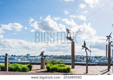 Stockholm, Sweden - July 31, 2017: Sculptures Created By Carl Milles, A Swedish Sculptor, In The Mus
