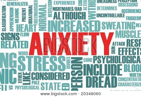 Anxiety and Stress and its Destructive Qualities poster