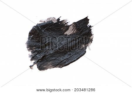 Black Volcanic Cosmetic Clay Texture Close Up. Solution Of Cosmetic Clay Abstract Background