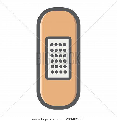 Adhesive plaster filled outline icon, medicine and healthcare, bandage sign vector graphics, a colorful line pattern on a white background, eps 10.