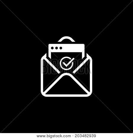 Confirmation Letter Icon. Business and Finance. Isolated Illustration. Envelope with confirmation letter.
