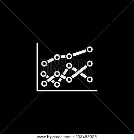 Statistics Icon. Business and Finance. Isolated Illustration. Set of line charts