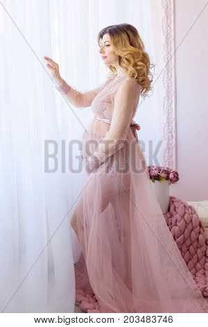 Beauty Pregnant Woman . Pregnant Belly. Beautiful Pregnant Woman Expecting Baby. Maternity concept.