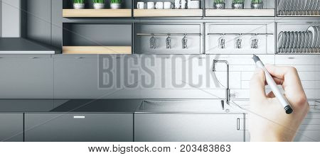 Kitchen Blueprint Concept