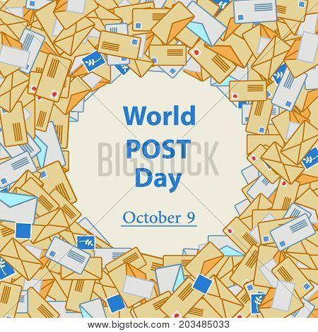 World Post Day, October 9. Vector illustration for you design, card, banner, poster and calendar.
