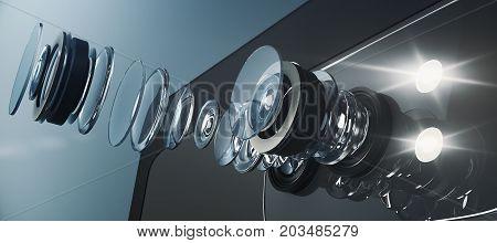 Disassembled Smartphone Camera, Visual Concept
