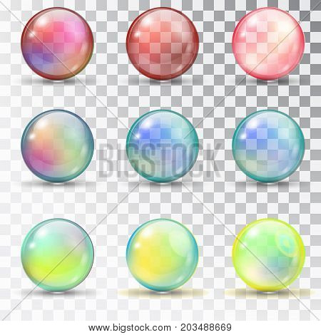 Transparent Colored Balls With Overflow.