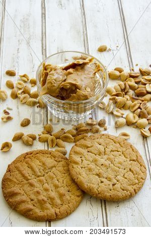 Fresh Baked Peanut Butter Cookies With Nuts