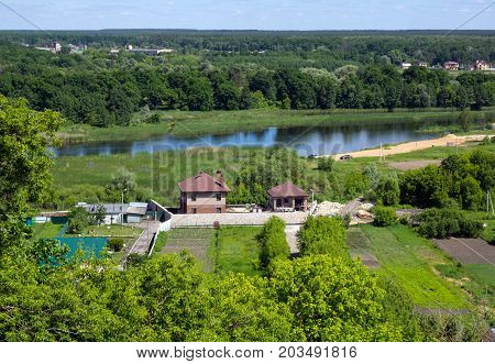 View of the Voronezh River in the vicinity of Ramon settlement Voronezh Region
