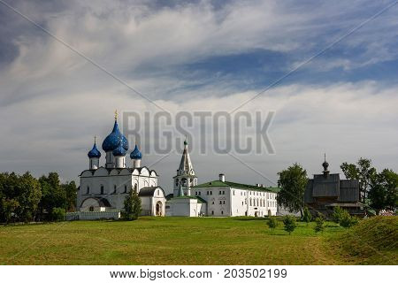 Medieval Kremlin and Orthodox Cathedral of Nativity. Suzdal, Vladimir region, Golden Ring, Russia