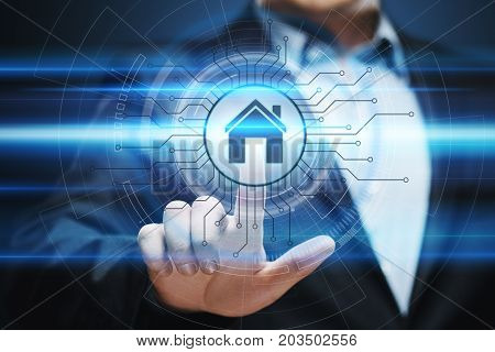 Smart home Automation Control System. Innovation technology internet Network Concept.
