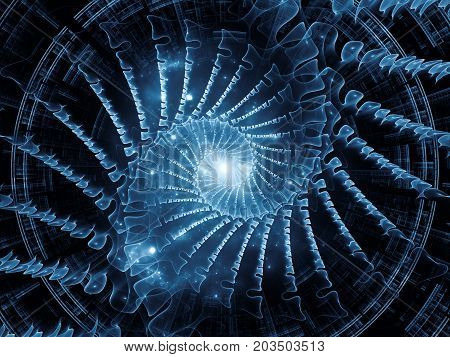 Visualization Of Radial Fractal Texture