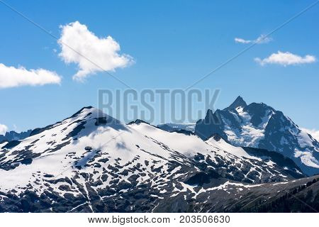 Even in the summer the higher peaks around the North Cascades National Park can be covered in snow
