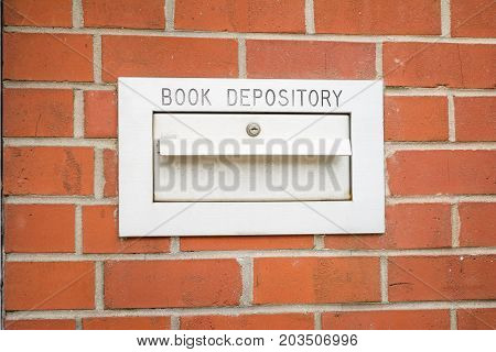A library book depository for after hour returns.