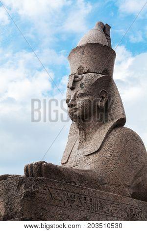 Granite Sphinx. Ancient Monument